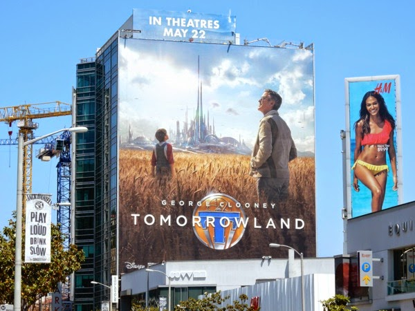 Giant Tomorrowland movie billboard