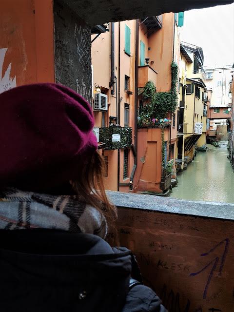 finestra sul canale delle Moline Bologna