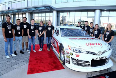 2017 NASCAR Drive for Diversity Combine participants at NASCAR  headquarters on October 16, 2017 in Daytona Beach, Florida.