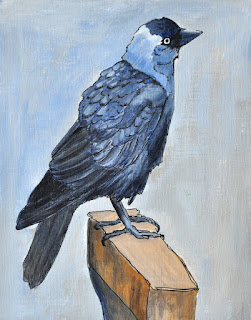 Jackdaw ink and acrylic
