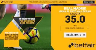 betfair supercuota Real Madrid gana a Rayo 15 diciembre