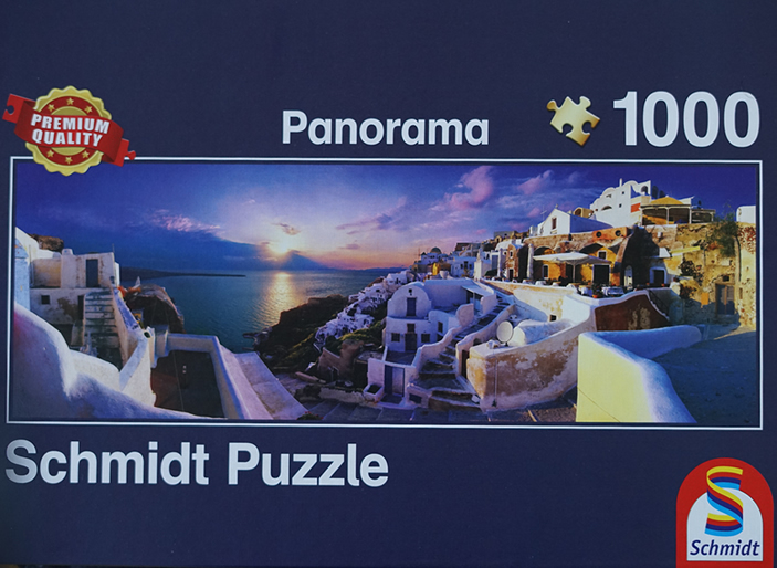 Sunset on Santorini 1000 Piece Schmidt Jigsaw Puzzle