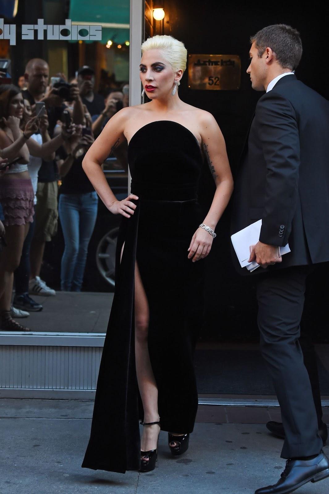 Lady Gaga Leaves A Studio In New York HQ Photos