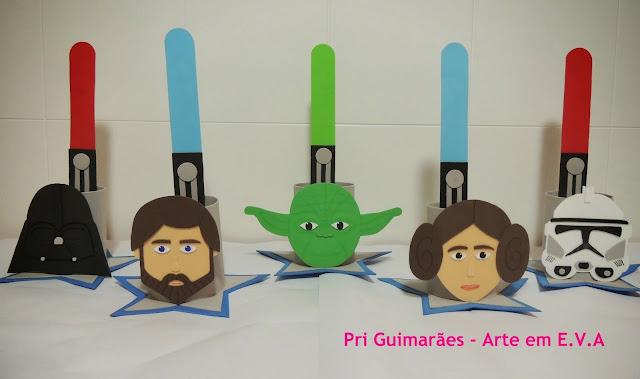 Centros de mesa Star Wars Pri Guimarães