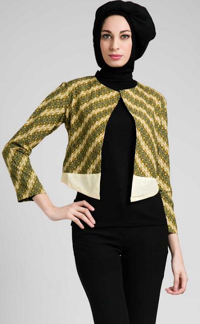Gambar Baju Batik Muslim Blazer