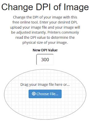 Aumentare DPI immagine online