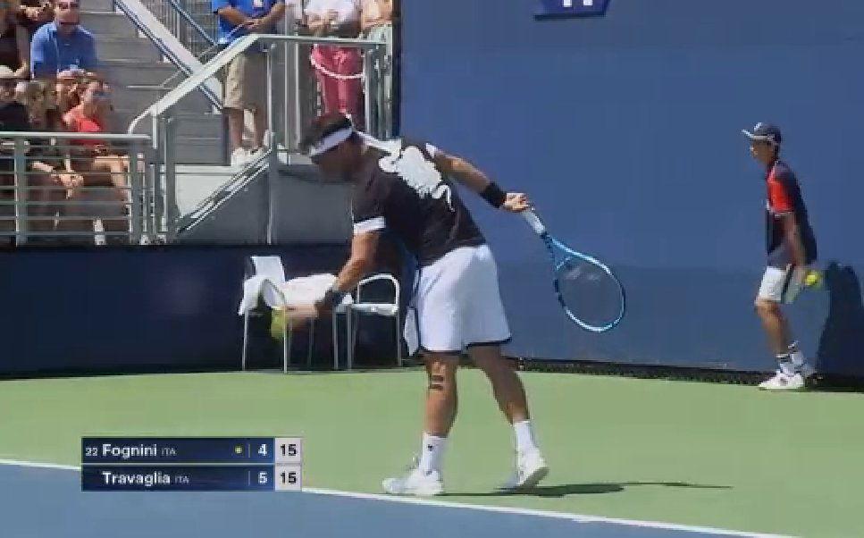 US Open Tennis: Fabio Fognini espulso per gli insulti, il video è virale nei Social