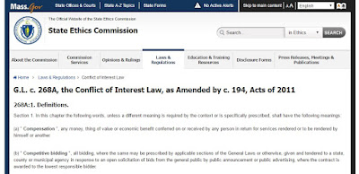 G.L. c. 268A, the Conflict of Interest Law, as Amended by c. 194, Acts of 2011