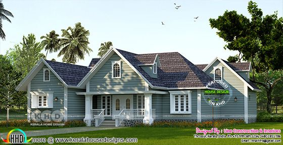 1688 square feet 3 bedroom sloping roof house