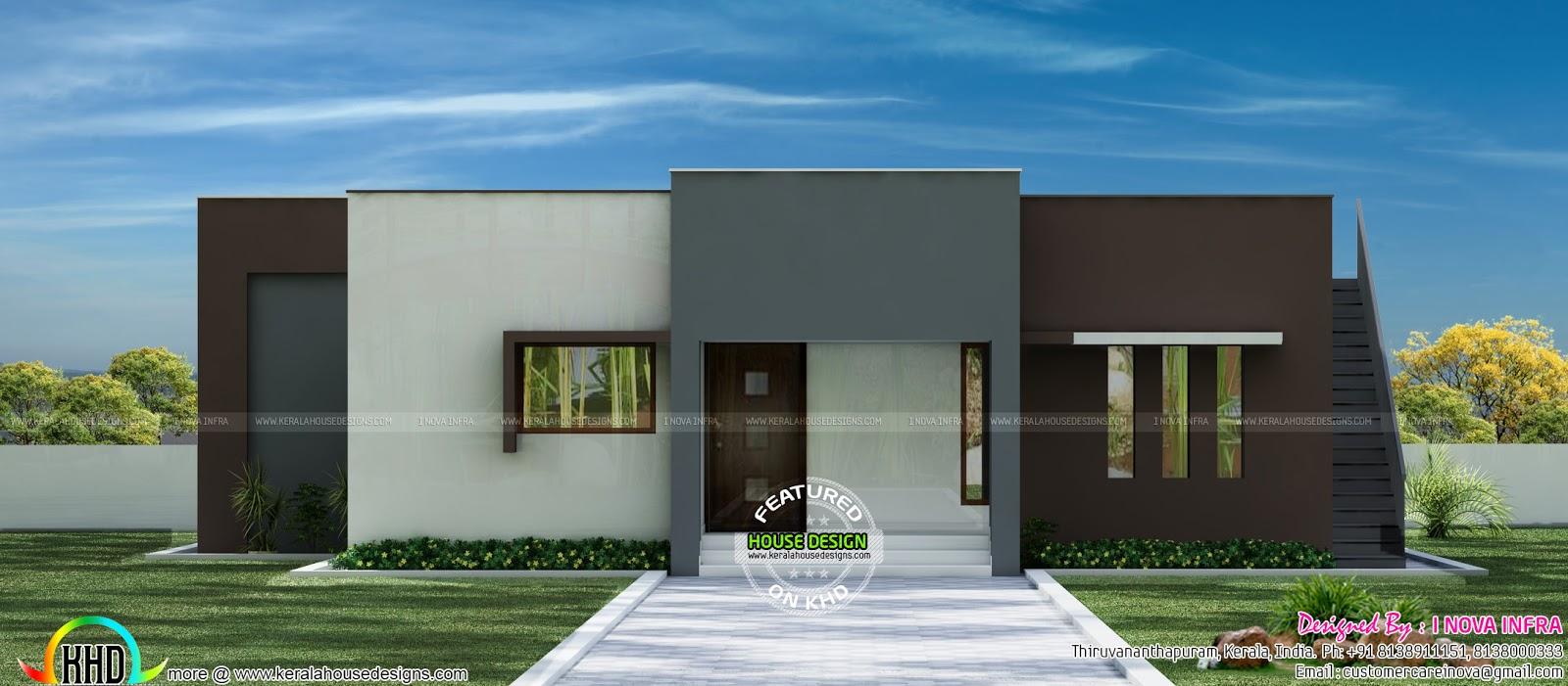 Minimalist house single floor - Kerala home design and ...