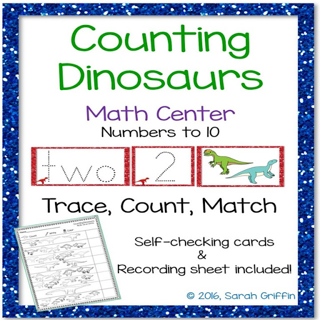 https://www.teacherspayteachers.com/Product/Counting-Dinosaurs-Math-Center-Numbers-to-10-1978702