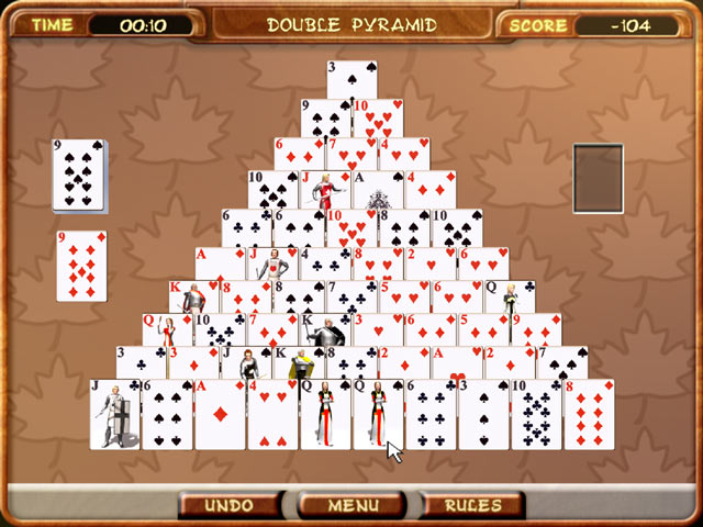 Free Online Pyramid Solitaire