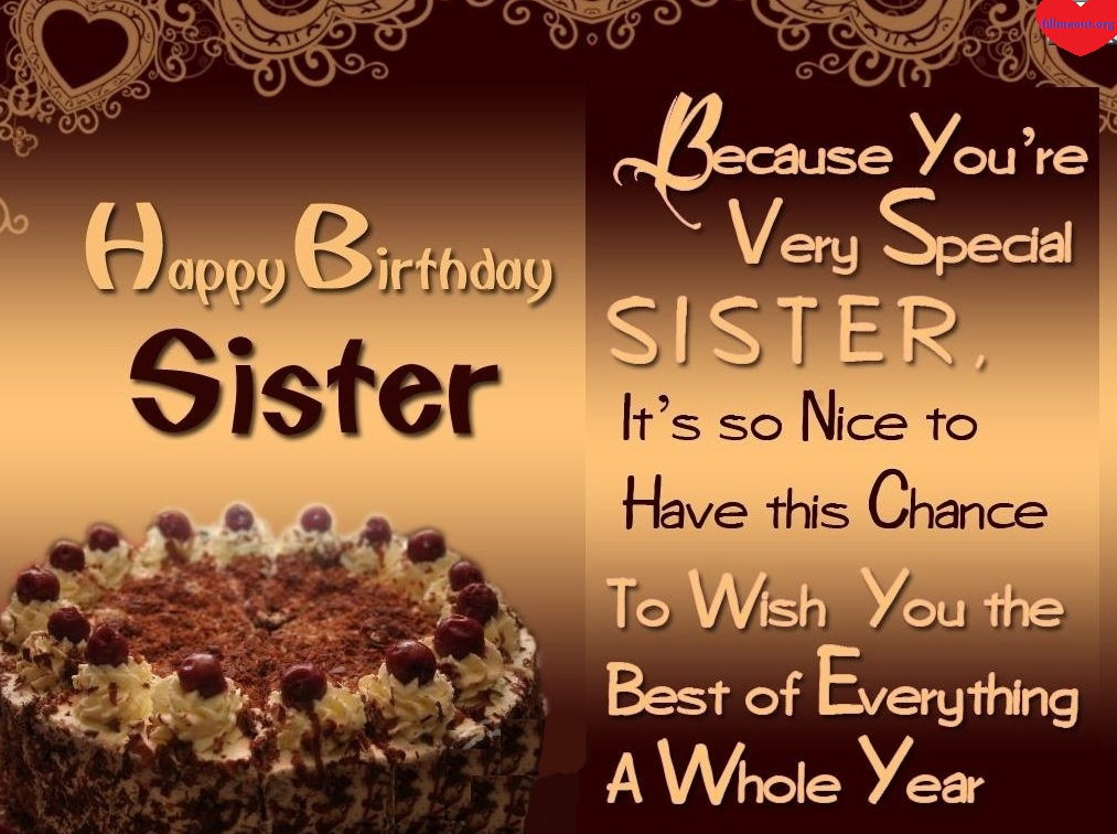 Birthday Wishes For Sister With Chocolate Cake ~ Best happy birthday wishes hd images cake pics wallpaper photos for facebook whatsapp