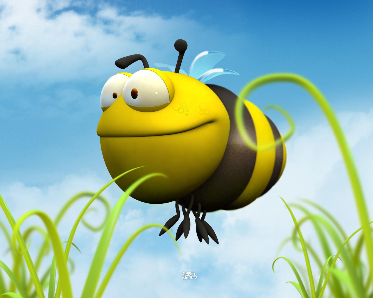 Funny Bee Funny Animal