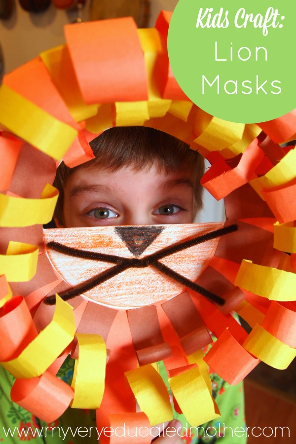 What a fun kids craft! March comes in a lion so why not welcome the season with a mask using supplies you can find in any art box.