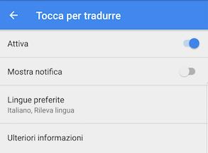 google traduttore in altre app