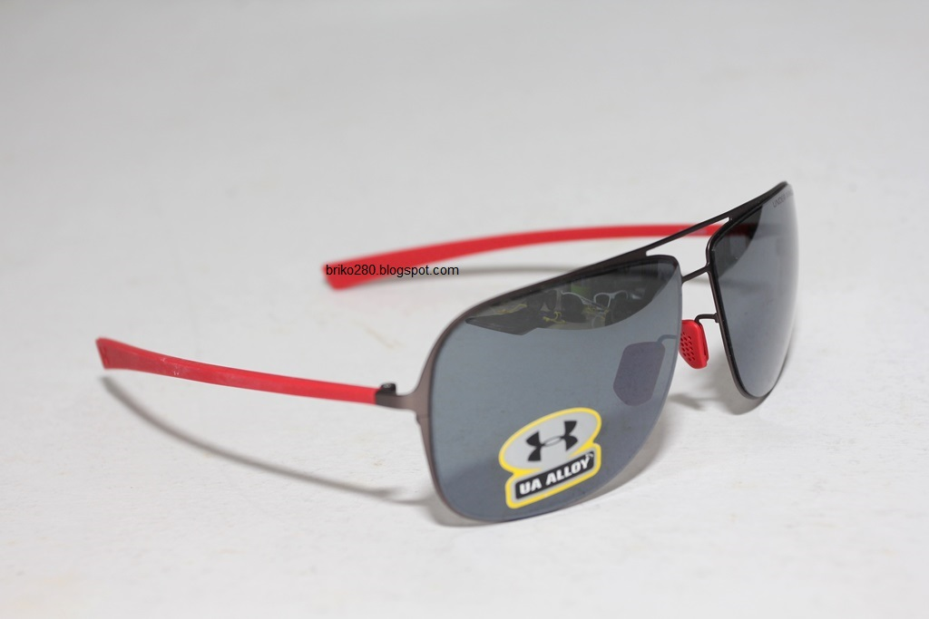 23de9d1f5d Under Armour Alloy sunglasses. Satin Gunmetal frame Red Rubber with Grey  Multi-Flection lense