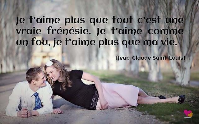 Phrase extraite d'une citation de Jean-Claude Saint-Louis sur l'amour.