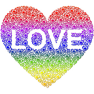 heart love rainbow