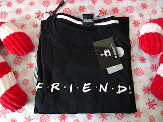 friends pjs on christmas background