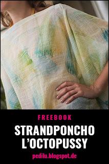 »L'Octopussy« – Freebook für einen stylischen Strandponcho ©pedilu