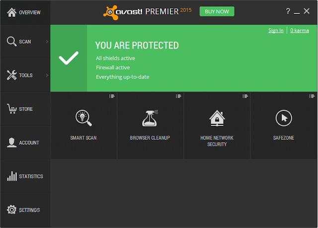 Avast Premier Antivirus 2015 10.3.2223