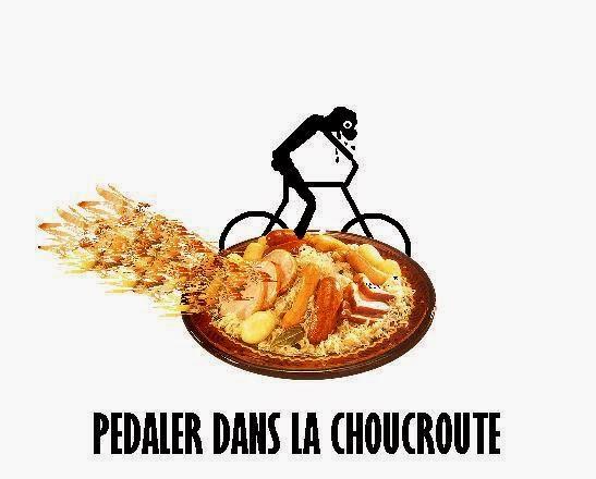 słówko na niedzielę: pedaler dans la choucroute