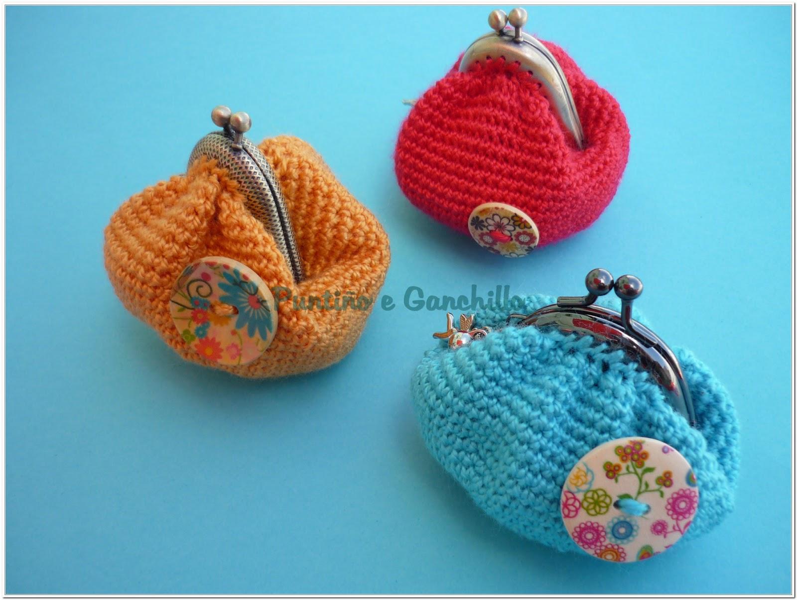 Puntino E Ganchillo Monedero Vintage Crochet - Monederos-ganchillo