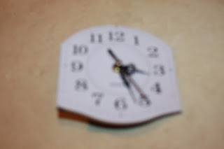 salvage recycle fabric clock