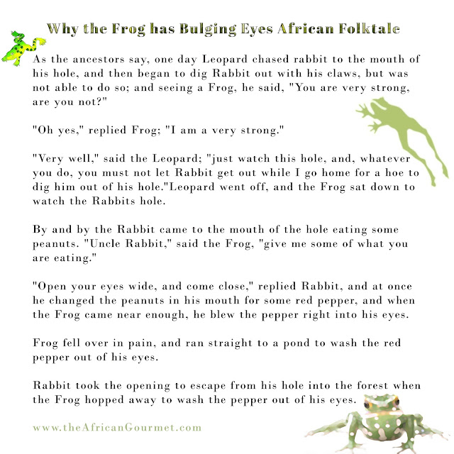 Why Froggy Has Bulging Eyes African Folktale is a charming story perfect for storytelling hour at home or school.