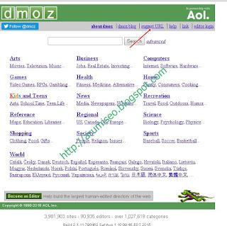 cara daftarkan website / blog ke DMOZ