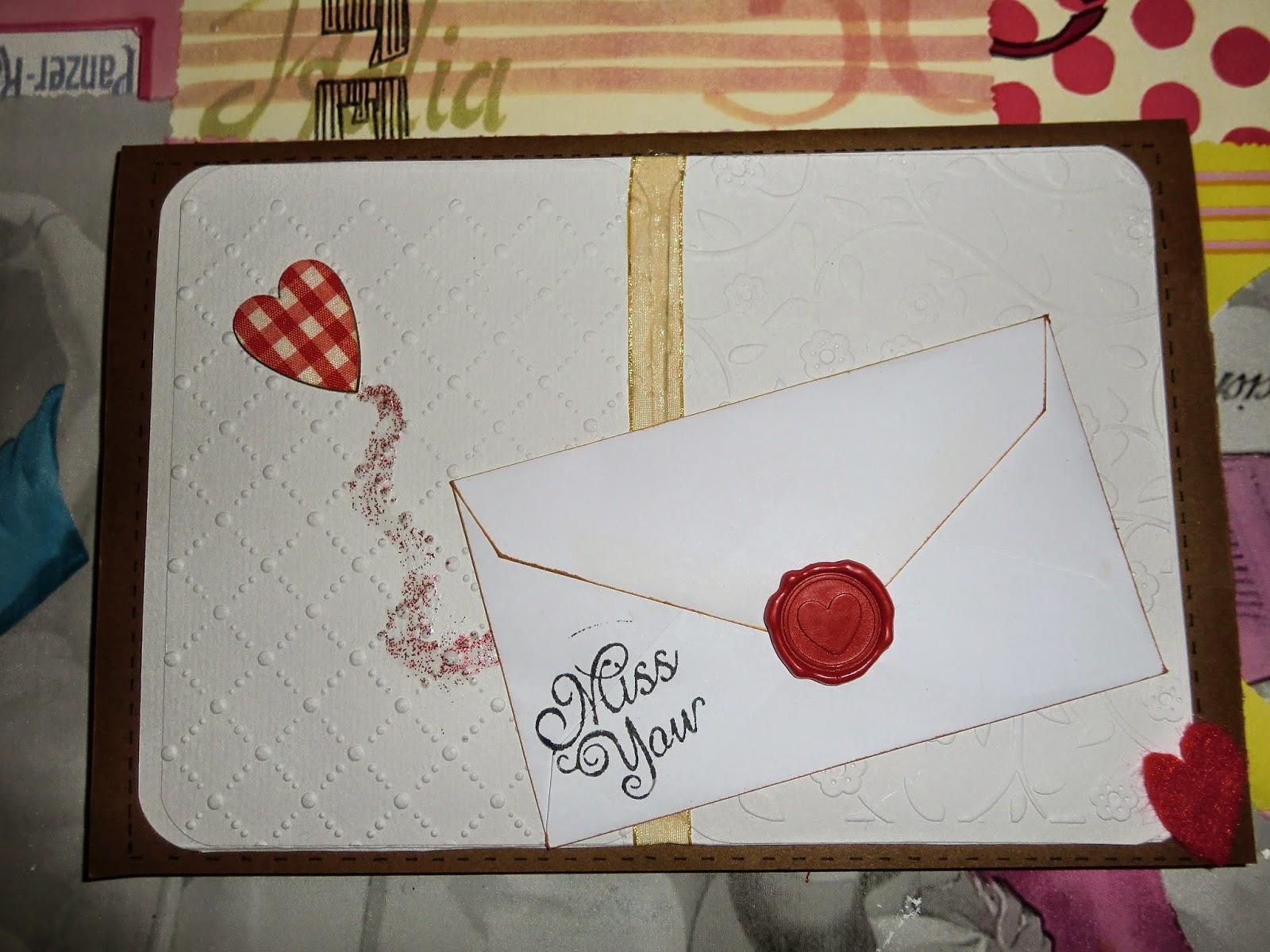 Primer plano principal de tarjeta Miss you