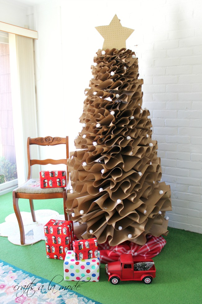 Full Size Brown Paper Christmas Tree