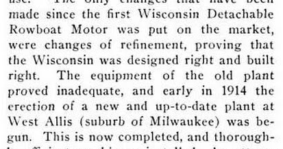 1915 - Wisconsin Rowboat Motor Article