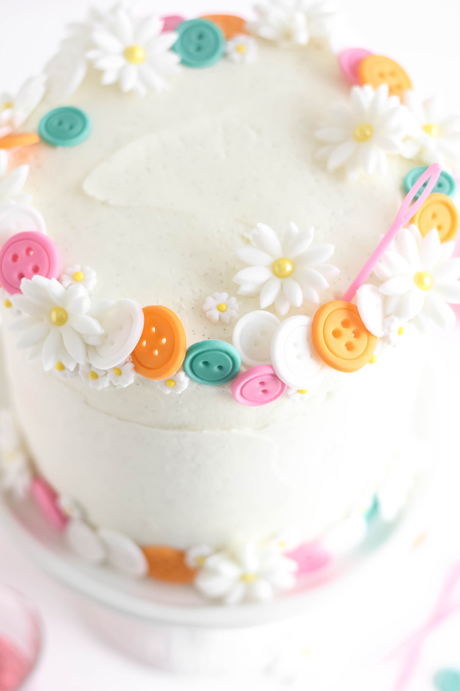Buttons Birthday Cake Easy White Cake With Vanilla Bean