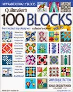 FIND BLUE RIBBON DESIGNS IN QUILTMAKER'S 100 BLOCKS, VOL 10 - NOVEMBER 2014