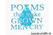 Updated(2): Daniel Radcliffe featured in book Poems That Make Grown Men Cry
