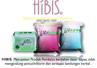 Manfaat khasiat pembalut herbal aman HIBIS HPAI asli original