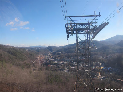 cable car, view of gatlinburg, to ober, tennessee