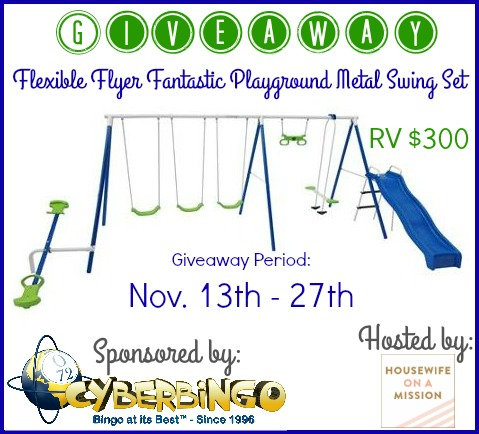 Flexible Flyer Fantastic Playground Metal Swing Set Giveaway Ends 11