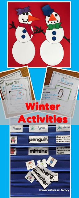 Winter Activities and Snowman Craft for the classroom