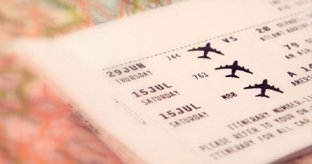 Passagem aérea para a Califórnia e EUA