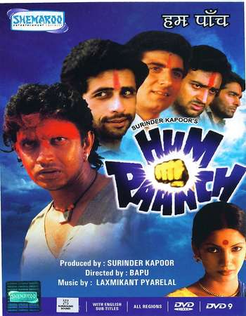 Hum Paanch 1980 Hindi 700MB DVDRip ESubs Watch Online Free Download downloadhub.in