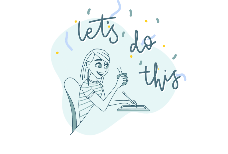 My 2019 goals/resolutions, and why they're mostly not specific. A self portrait of me working this year.