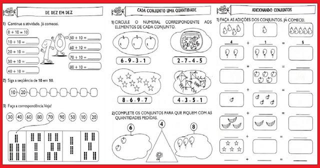 Confira nesta postagem algumas Atividades variadas de matemática indicadas a alunos do 1º ano.