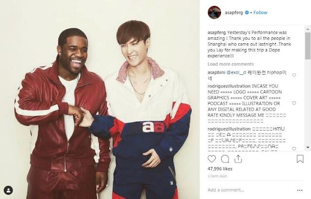 Lay EXO Berkolaborasi Dengan Steve Aoki dan A$AP Ferg di Shanghai
