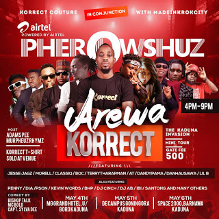 [EVENT] PHEROWSHUZ HEADLINES MAIDEN EDITION OF AREWA KORRECT CONCERT