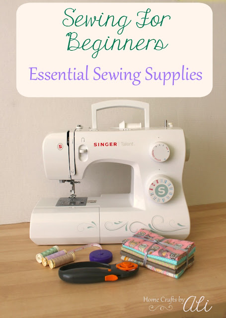 beginner sewing essential supplies basic cutting measure machine