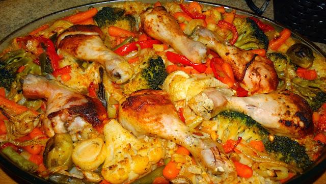 Pałki z kurczaka na ryżu