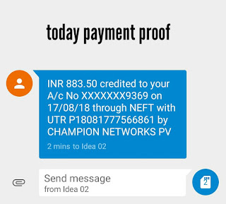payment proof of champ cash